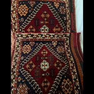 Two handmade rugs 22x22 inches